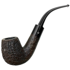 Comoy's Extraordinaire Sandblasted Bent Billiard  (809) (1940s-1950s)