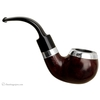 "Irish Estates Peterson ""Dublin"" with Sterling Silver Rim Cap and Band (03S) (9mm) (Fishtail) (1999) (Unsmoked)"