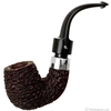 Irish Estates Peterson Hand-Made House Pipe Rusticated Bent Billiard with Sterling Silver Band (1995) (P-Lip)