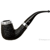 Irish Estates Peterson Limited Edition Sandblasted Bent Billiard with Silver (2004) (Fishtail) (Unsmoked)