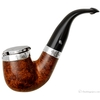 Irish Estates Peterson Smooth Bent Billiard with Silver Wind Cap and Band (221)(P-Lip)(2004) (Unsmoked)