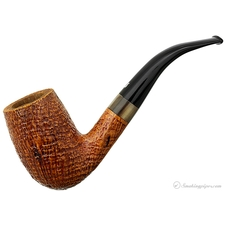 Ser Jacopo Sandblasted Bent Billiard with Horn (S2)