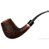 Italian Estates Caminetto Rusticated Bent Brandy with Silver Band (8.L.15) (Unsmoked)
