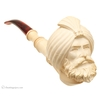 Turkish Estates Unknown Meerschaum Man in Turban Churchwarden (with Case)
