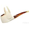 Turkish Estates Meerschaum Eagle That Has Dropped Something (with Case)