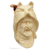 Turkish Estates Unknown Meerschaum Native American with Wolf Headcover (with Case) (Unsmoked)